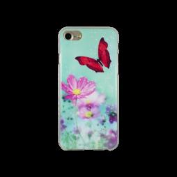 Apple iPhone 7/6/6S - Gumiran ovitek (TPUP) - Red Butterfly