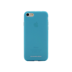 Apple iPhone 7/8 - Gumiran ovitek (TPUM) - modro-prosojen mat