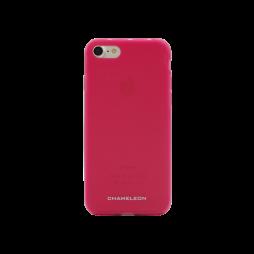 Apple iPhone 7/8 - Gumiran ovitek (TPUM) - roza-prosojen mat