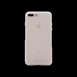 Apple iPhone 7 Plus/8 Plus - Gumiran ovitek (TPUM) - belo-prosojen mat