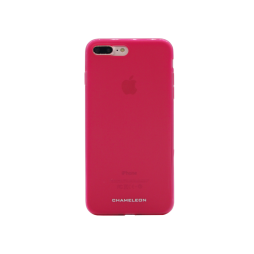Apple iPhone 7 Plus/8 Plus - Gumiran ovitek (TPUM) - roza-prosojen mat