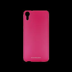 HTC Desire 825/10 Lifestyle - Gumiran ovitek (TPUM) - roza-prosojen mat