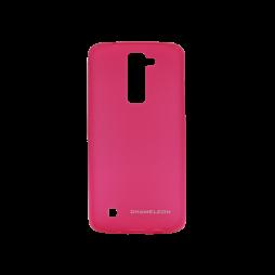 LG K8 - Gumiran ovitek (TPUM) - roza-prosojen mat