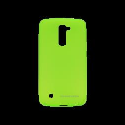 LG K10 - Gumiran ovitek (TPUM) - zeleno-prosojen mat