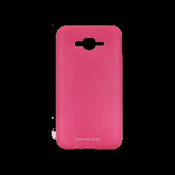 Samsung Galaxy J7 (2016) - Gumiran ovitek (TPUM) - roza-prosojen mat
