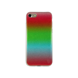 Apple iPhone 7/8 - Gumiran ovitek (TPUB) - rdeče-roza