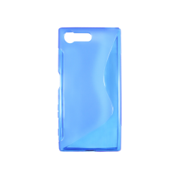 Sony Xperia X Compact - Gumiran ovitek (TPU) - modro-prosojen SLine