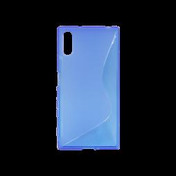 Sony Xperia XZ - Gumiran ovitek (TPU) - modro-prosojen SLine