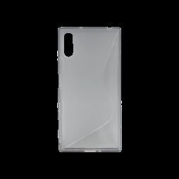 Sony Xperia XZ - Gumiran ovitek (TPU) - sivo-prosojen SLine