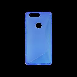 Huawei Honor 8 - Gumiran ovitek (TPU) - modro-prosojen SLine