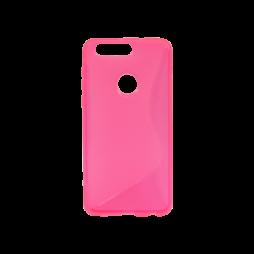 Huawei Honor 8 - Gumiran ovitek (TPU) - roza-prosojen SLine
