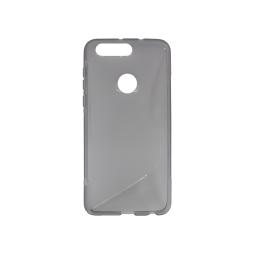 Huawei Honor 8 - Gumiran ovitek (TPU) - sivo-prosojen SLine