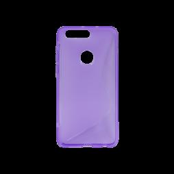 Huawei Honor 8 - Gumiran ovitek (TPU) - vijolično-prosojen SLine