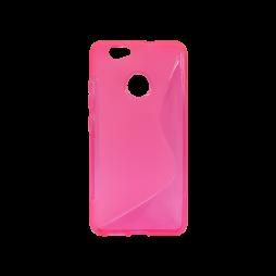 Huawei nova - Gumiran ovitek (TPU) - roza-prosojen SLine