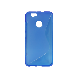 Huawei nova - Gumiran ovitek (TPU) - modro-prosojen SLine