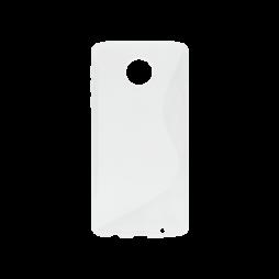 Motorola Moto Z Play - Gumiran ovitek (TPU) - belo-prosojen SLine