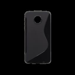 Motorola Moto Z Play - Gumiran ovitek (TPU) - črn SLine