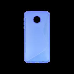Motorola Moto Z Play - Gumiran ovitek (TPU) - modro-prosojen SLine