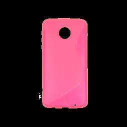 Motorola Moto Z Play - Gumiran ovitek (TPU) - roza-prosojen SLine