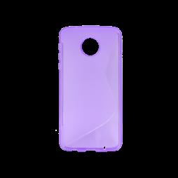 Motorola Moto Z Play - Gumiran ovitek (TPU) - vijolično-prosojen SLine