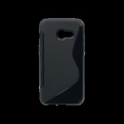 Samsung Galaxy A3 (2017) - Gumiran ovitek (TPU) - črn SLine