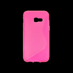 Samsung Galaxy A3 (2017) - Gumiran ovitek (TPU) - roza-prosojen SLine