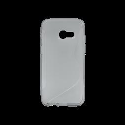 Samsung Galaxy A3 (2017) - Gumiran ovitek (TPU) - sivo-prosojen SLine