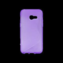 Samsung Galaxy A3 (2017) - Gumiran ovitek (TPU) - vijolično-prosojen SLine