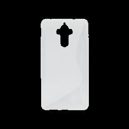 Huawei Mate 9 - Gumiran ovitek (TPU) - belo-prosojen SLine