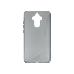 Huawei Mate 9 - Gumiran ovitek (TPU) - sivo-prosojen SLine