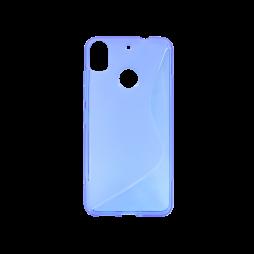 HTC Desire 10 Pro - Gumiran ovitek (TPU) - modro-prosojen SLine