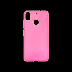 HTC Desire 10 Pro - Gumiran ovitek (TPU) - roza-prosojen SLine