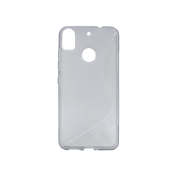 HTC Desire 10 Pro - Gumiran ovitek (TPU) - sivo-prosojen SLine