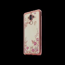 Huawei Mate 9 - Gumiran ovitek (TPUE) - roza rob - roza rožice
