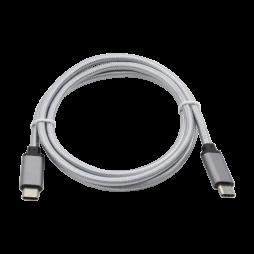 Podatkovno-polnilni kabel Type C 3.1  -Type C 3.1 - siv, najlon