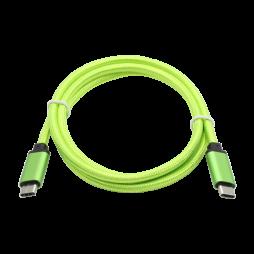 Podatkovno-polnilni kabel Type C 3.1  -Type C 3.1 - zelen, najlon