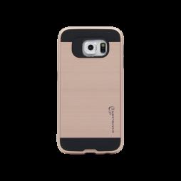 Samsung Galaxy S6 - Gumiran ovitek (ARM-01) - roza-zlat