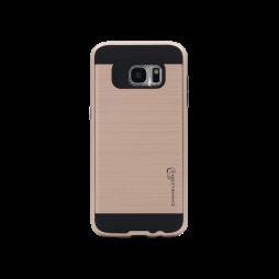 Samsung Galaxy S7 Edge - Gumiran ovitek (ARM-01) - roza-zlat