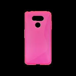 LG G6 - Gumiran ovitek (TPU) - roza-prosojen SLine