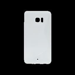 HTC U Ultra - Gumiran ovitek (TPU) - belo-prosojen SLine