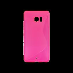 HTC U Ultra - Gumiran ovitek (TPU) - roza-prosojen SLine