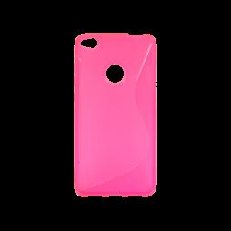 Huawei Honor 8 Lite/8 Lite (2017)/P9 Lite (2017)/ Nova Lite - Gumiran ovitek (TPU) - roza-prosojen SLine