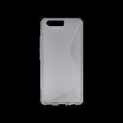 Huawei P10 - Gumiran ovitek (TPU) - sivo-prosojen SLine