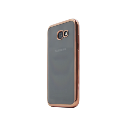 Samsung Galaxy A3 (2017) - Gumiran ovitek (TPUE) - rob roza-zlat