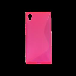 Sony Xperia XA1 - Gumiran ovitek (TPU) - roza-prosojen SLine