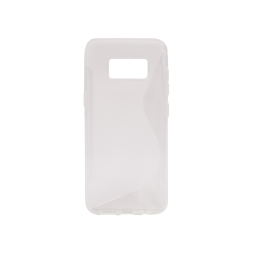 Samsung Galaxy S8 - Gumiran ovitek (TPU) - belo-prosojen SLine