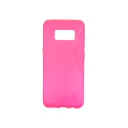 Samsung Galaxy S8 - Gumiran ovitek (TPU) - roza-prosojen SLine