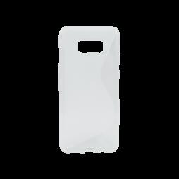 Samsung Galaxy S8+ - Gumiran ovitek (TPU) - belo-prosojen SLine