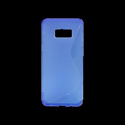 Samsung Galaxy S8+ - Gumiran ovitek (TPU) - modro-prosojen SLine