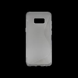 Samsung Galaxy S8+ - Gumiran ovitek (TPU) - sivo-prosojen SLine
